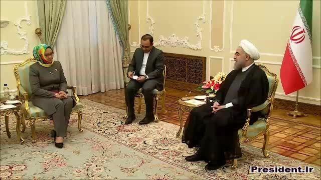 دیدار دکتر روحانی با وزیر خارجه اندونزی