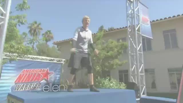 Ellen on American Ninja Worrier