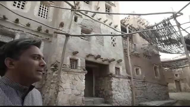 مجید اخشابی هنگام ضبط کلیپ در شهرک سینمایی پیامبر اعظم