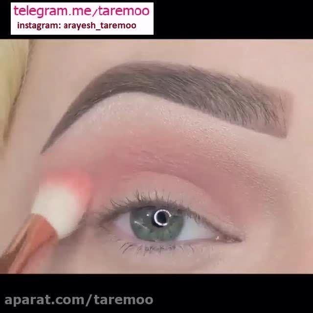 آرایش زیبای چشم در تار مو