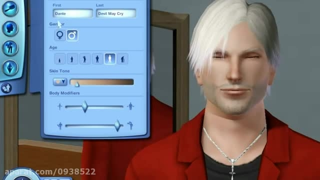 Dante Devil May Cry 4 in The Sims 3 World Adventures