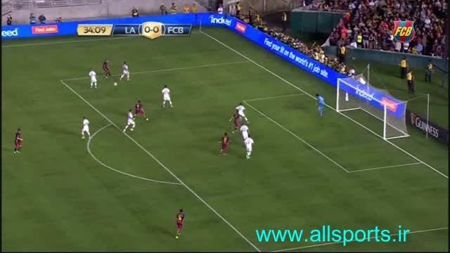 خلاصه بازی بارسلونا و لس آنجلس گالکسی