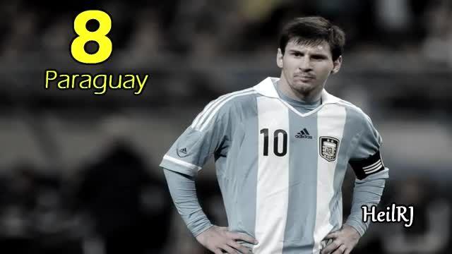 """10 تا از بهترین گل های """"مسی"""" در تیم ملی آرژانتین"""