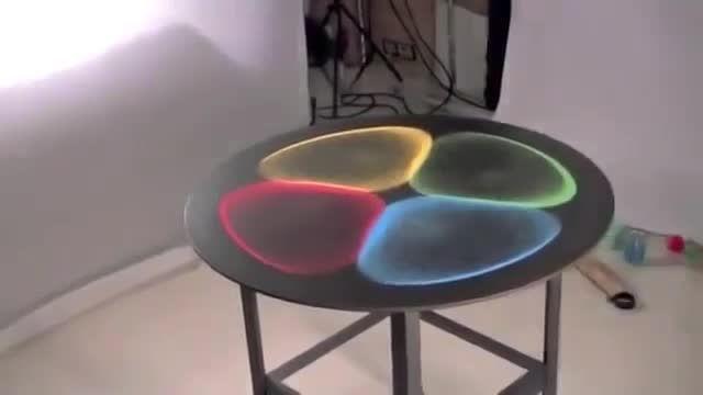 شکلهای بی نظیر شنهای رنگی در مقابل انواع فرکانس