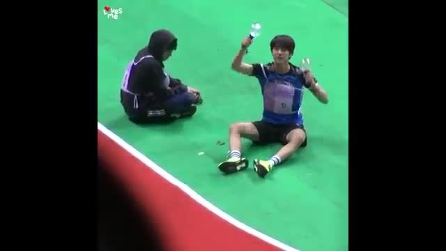 Jungkook and Jin having fun with there fans