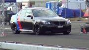 BMW M5 E60 vs BMW M3 E92 Drag Race