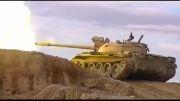 عبور موشک از کنار تانک تروریست های سوریه