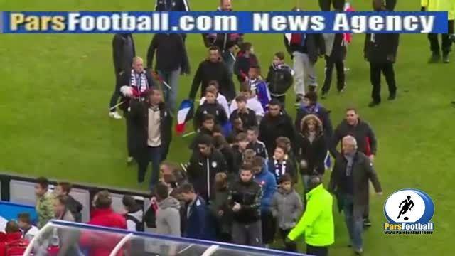 حوادث خونین پاریس| خروج هواداران فرانسه از ورزشگاهآ