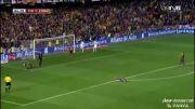 گل قهرمانی رئال مادرید توسط گرت بیل مقابل بارسلونا