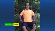 شرکت علی کریمی در چالش آب یخ و دعوت از علی دائی