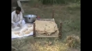 درست کردن نان محلی