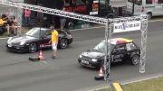 درگ اپل کورسا A با پورشه 911 توربو - Porsche 911 Turbo 997 vs POWER OPEL Corsa A