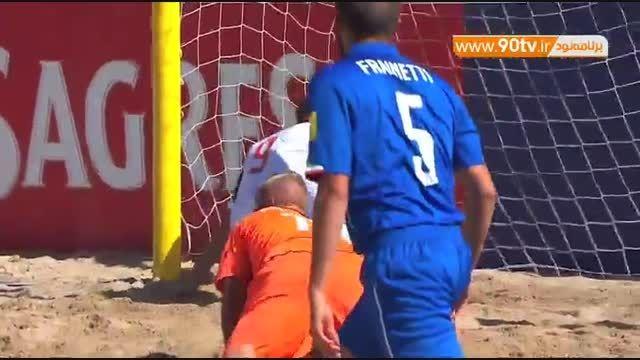 خلاصه فوتبال ساحلی: ایتالیا ۲-۵ روسیه