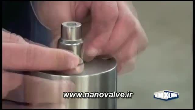 شیر پروانه ای استیل بهداشتی
