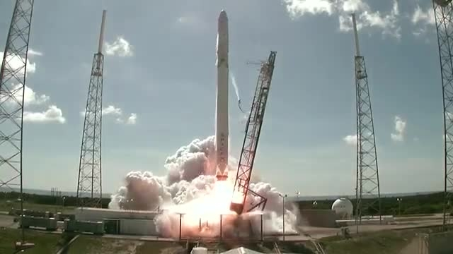ویدیوی انفجار راکت فالکون 9 شرکت اسپیس اکس