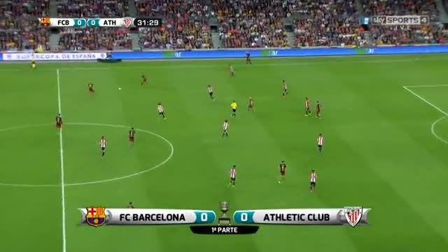 نیمه اول بازی : بارسلونا 1-1 بیلبائو(سوپرکاپ اسپانیا)