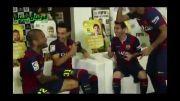 رقابت بازیکنان بارسلونا در بازی فیفا 15