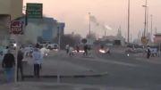 بحرین:حمله جوانان کفنپوش بحرینی و فرار مزدوران- منامه