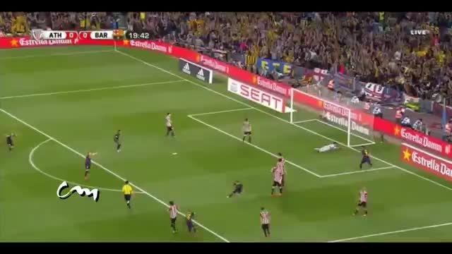 گل فوق العاده لیونل مسی در فینال کوپا دل ری 2015