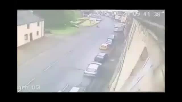 حادثه هنگام پارک کردن خودرو