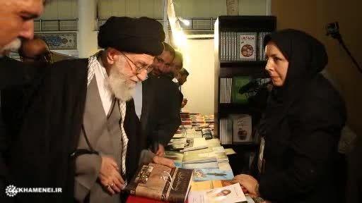 روایتی ازحاشیه  بازدید رهبر انقلاب از نمایشگاه کتاب ق4