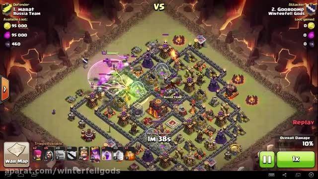 Clash of Clans -TH9- Mass Golem - War 63 vs Russia Team