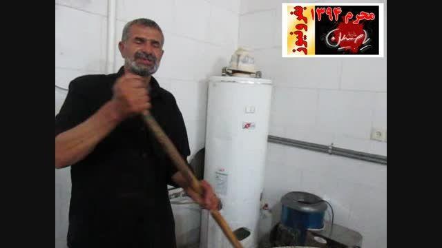 توضیحات احمد خاکزار در مورد طبخ غذا در حسینیه قلعه