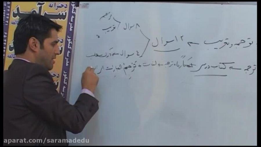 تدریس درس عربی توسط استاد حسینی