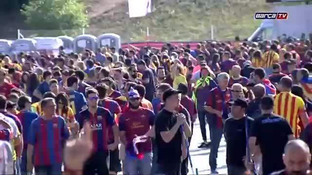 طرفداران بارسلونا قبل از فینال کوپا دل ری