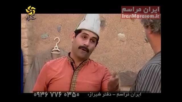 باقری نژاد نویسنده و بازیگر شیرازی شکرآباد و خنده بازار