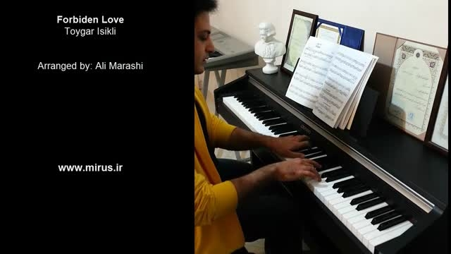 اجرای موسیقی سریال عشق ممنوع با پیانو