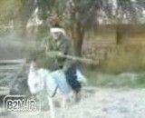 کلیپ ایرانی خنده دار تک چرخ زدن با الاغ