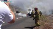 اولین لامبورگینی آوانتادور دنیا که در آتش سوخت.