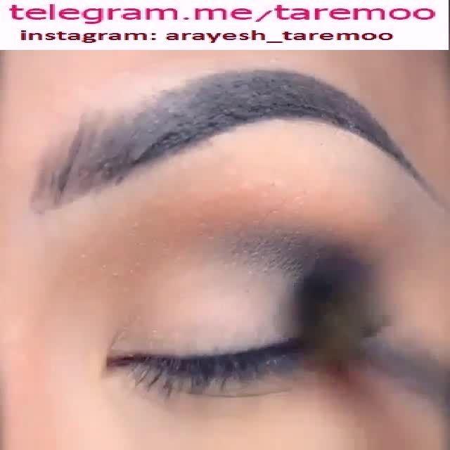آرایش چشم با سایه نقره ای و خط چشم زیبا در تارمو