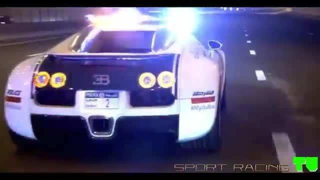 ویدئویی از خودروهای لوکس و اسپرت پلیس دبی