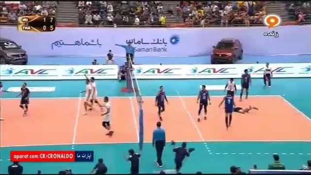 والیبال جام ملت های آسیا : ایران 3 - 0 تایلند