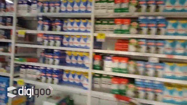 شکار لحظه ی وقوع زمین لرزه شیلی در یک فروشگاه
