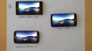 مقایسه ی صفحه نمایش Xperia Z1 - Galaxy S4 - LG G2