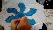 نقاشی کردن ظروف میناکاری
