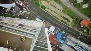 نمایشی جذاب و دیدنی بر فراز پاناما سیتی