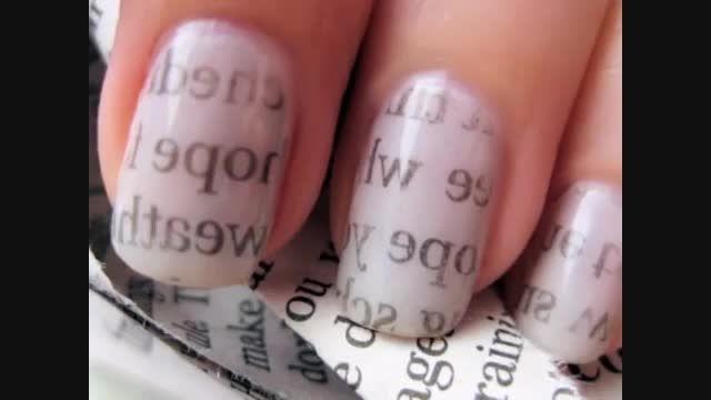 طراحی ناخن به شکل روزنامه!