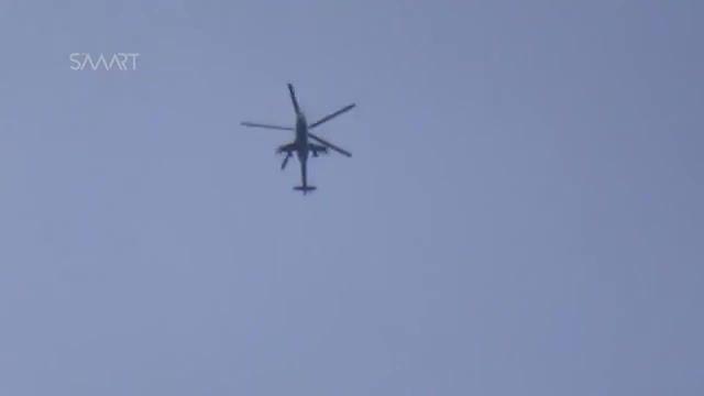 حمله هلیکوپتر MIL MI 24 به مواضع تروریست های تکفیری