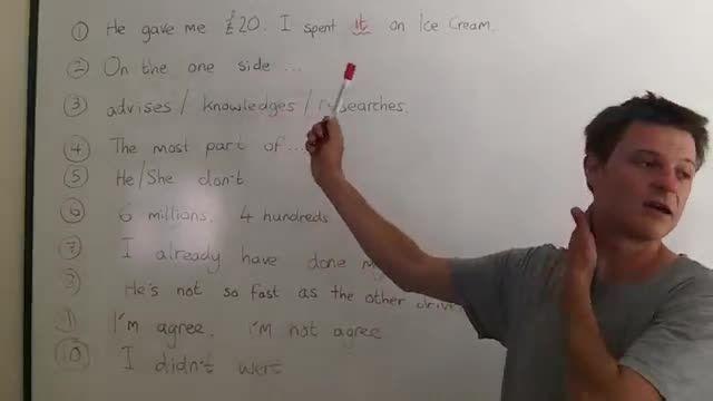 آشنایی با اشتباهات رایج در زبان انگلیسی 2