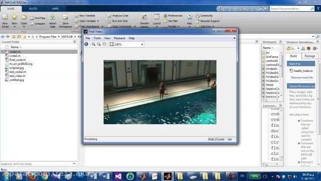 تشخیص شناگر روی آب و زیر آب به صورت آنلاین(در ویدیو)