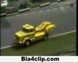 تصادف کامیون در مسابقات