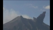 لحظه فوران یک آتشفشان در ژاپن