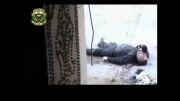هلاکت تروریست توسط تک تیرانداز ارتش سوریه