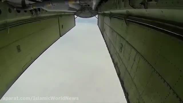 شلیک کروز از بمب افکن روسی و اسکورت توسط تامکت ایرانی