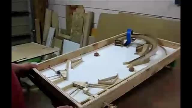 میز پینبال چوبی بسازیم