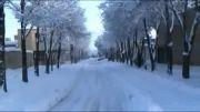 دهاقان بارش برف/دی ماه 1392